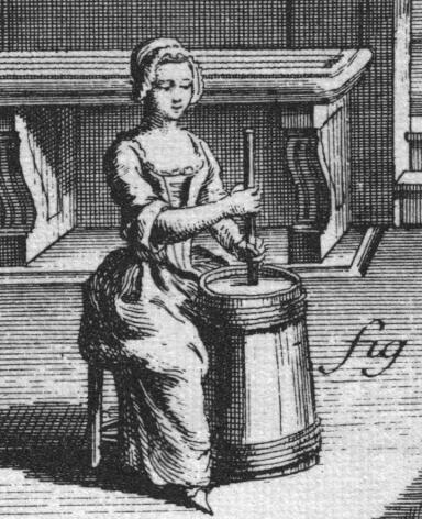Woman Churning Butter from Diderots L'Encyclopedie